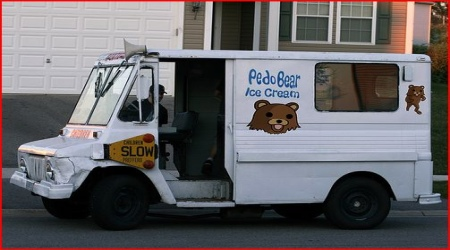Pedobear IceCream white van