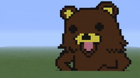 Pedobear mosaic Minecraft