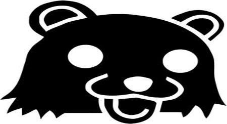 Pedobear black logo