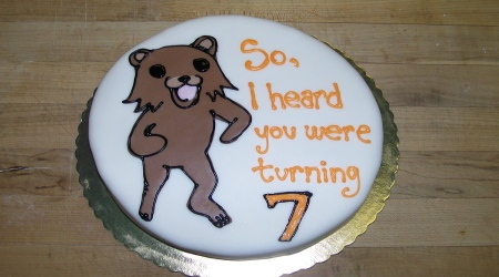 Pedobear cake turning 7yo