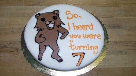 Pedobear cake turning 7yo