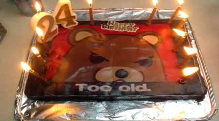 Pedobear chocolate cake