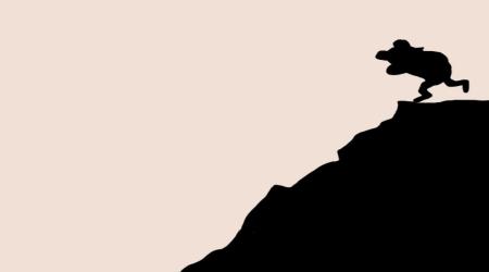 Pedobear mountain cliff