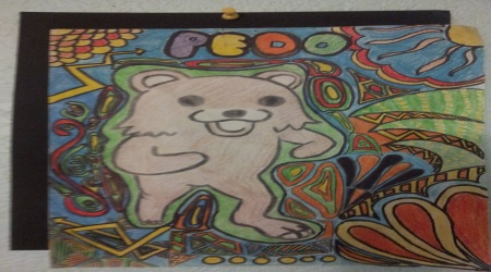Pedobear coloured drawing