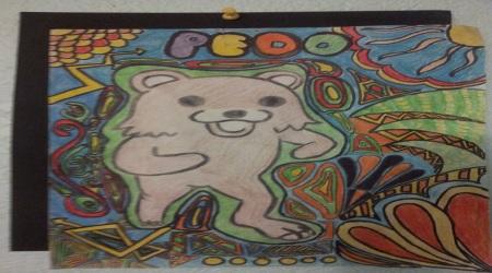Pedobear coloured drawing