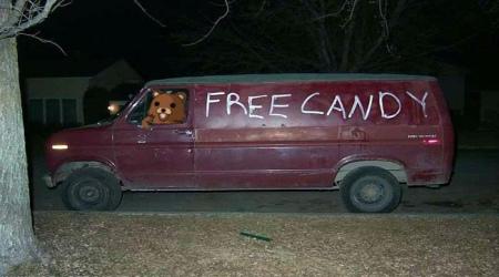 Pedobear free candy eerie van