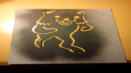 Pedobear graffiti pattern