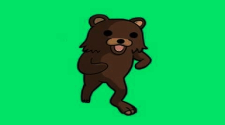 Pedobear green background