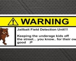 Pedobear jailbait warning