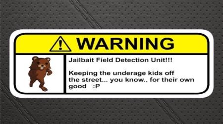 Pedobear jailbait warning