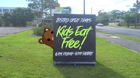 Pedobear kids eat free