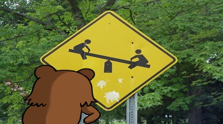 Pedobear playground kids