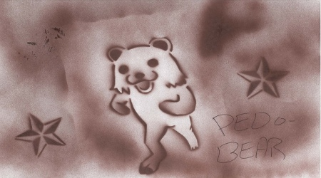 Pedobear stencil drawing