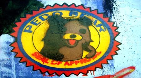 Pedobear street graffiti