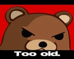 Pedobear too old face