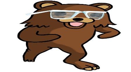 Pedobear wearing sunglasses