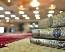Quran book in mosque