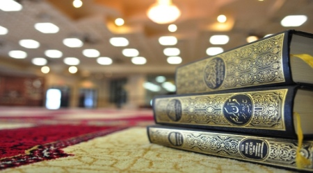 Quran book in mosque