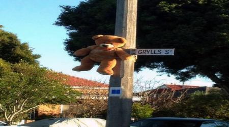 teddy bear hanged