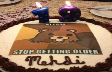Pedobear birthday cake 19yo