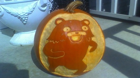 Pedobear Halloween pumpkin