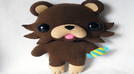 Pedobear look alike toy