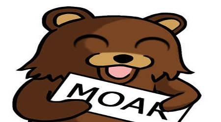 Pedobear Moar sign