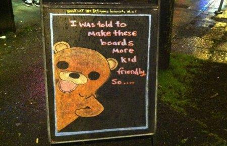 Pedobear whiteboard pub